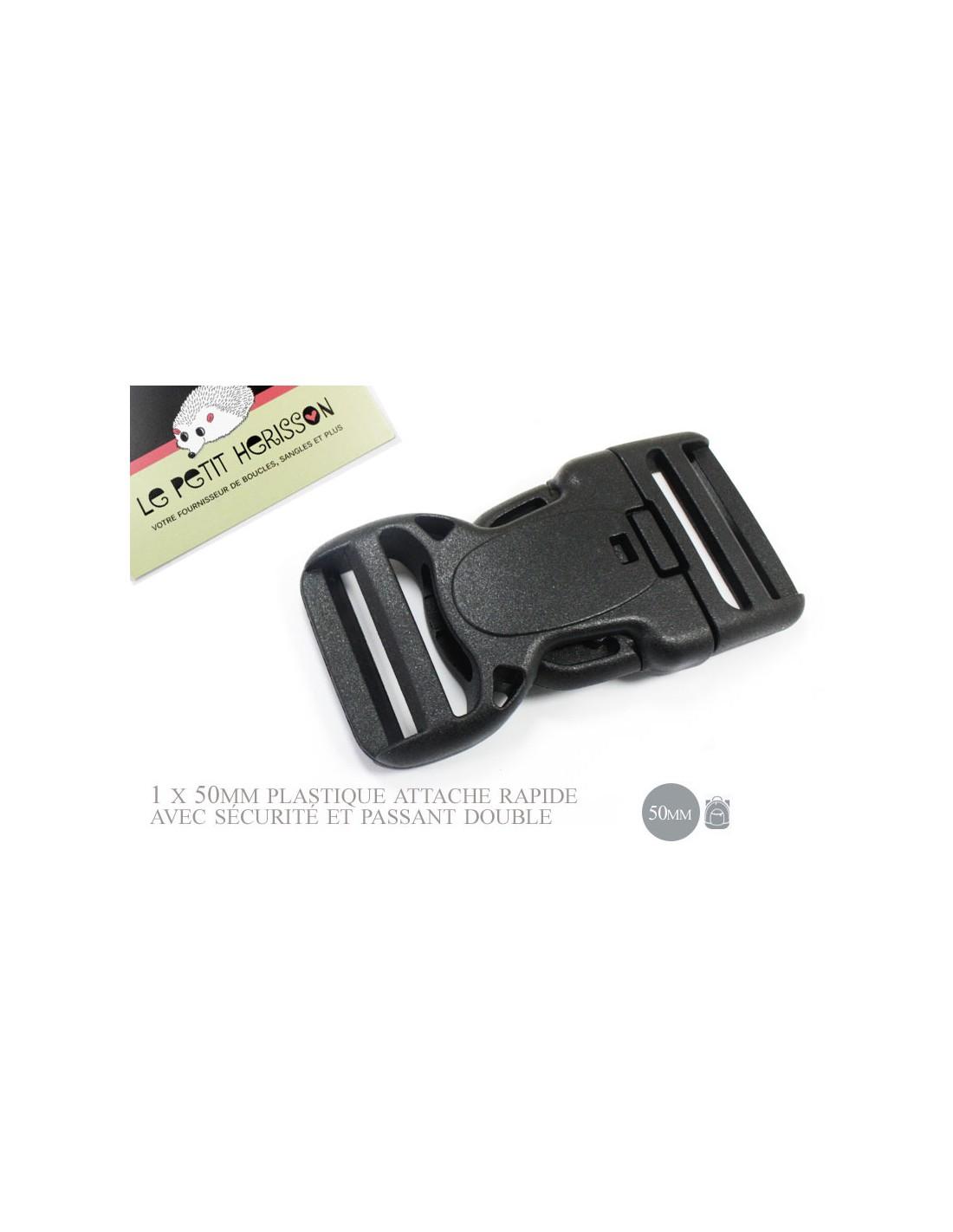 ... 1 x 50mm Boucle Attache Rapide   Fermoir Clip   Plastique   Sécurité    Noir  ... 0f29b3ef109