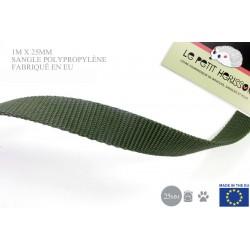 1m x 25mm Sangle / Polypropylène / Epais / Fabriqué dans l'ue / vert militaire