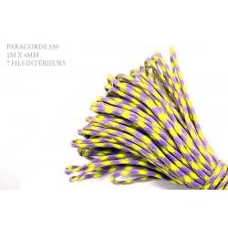 1m x 4mm Paracorde 550 / 41 motif /jaune violet