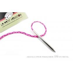 1 x 7,5mm Aiguille pour paracorde 550 / Metal / Couleur Argente
