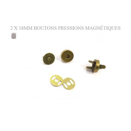 2 x 18mm Fermoirs Magnétiques / Epais / Bronze Antique