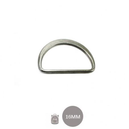 4 x 16mm Anneaux demi lunes / Metal /  Moulé / Plat / Gunmetal