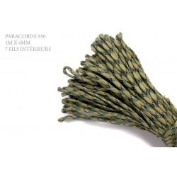 1m x 4mm Paracorde 550 / 69 motif / beige vert