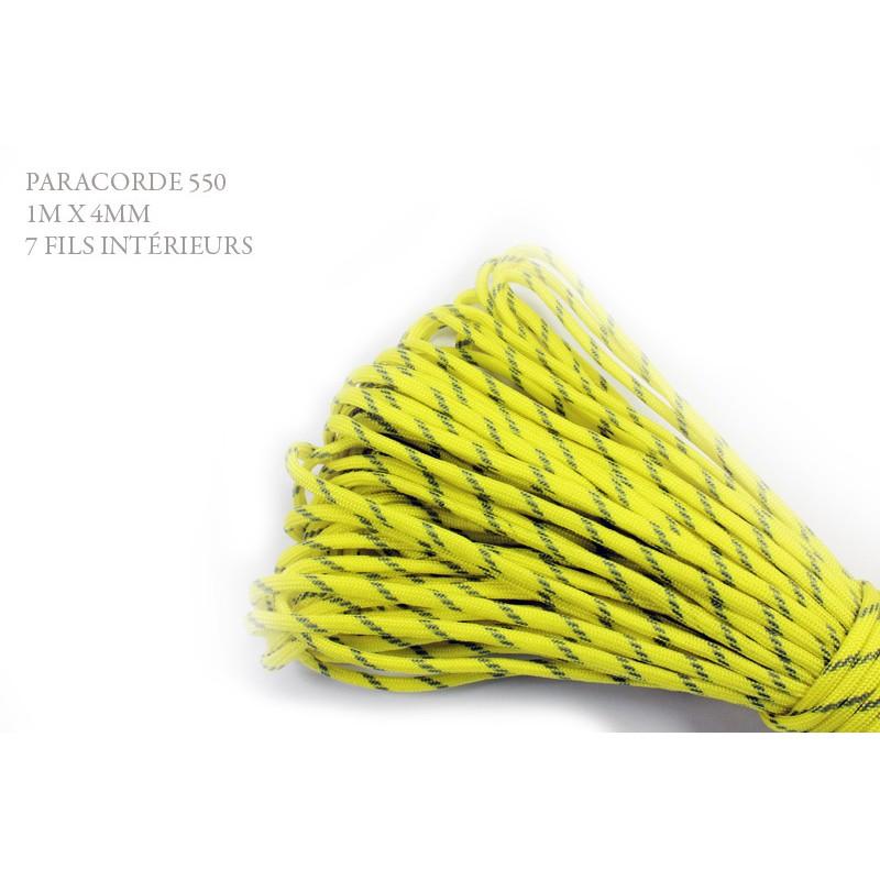 1m x 4mm Paracorde 550 / 77 motif / jaune gris