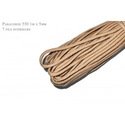 1m x 4mm Paracorde 550 / 13 uni / beige