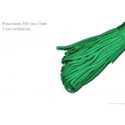 1m x 4mm Paracorde 550 / 14 uni / vert