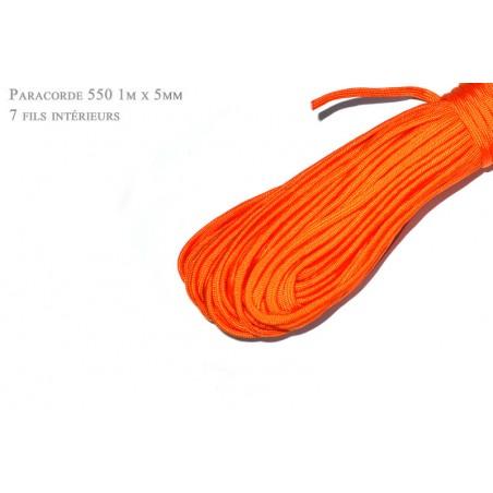 1m x 4mm Paracorde 550 / 45 uni / orange