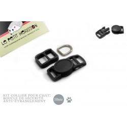 10mm Kit Collier Pour Chat / haute qualité / noir