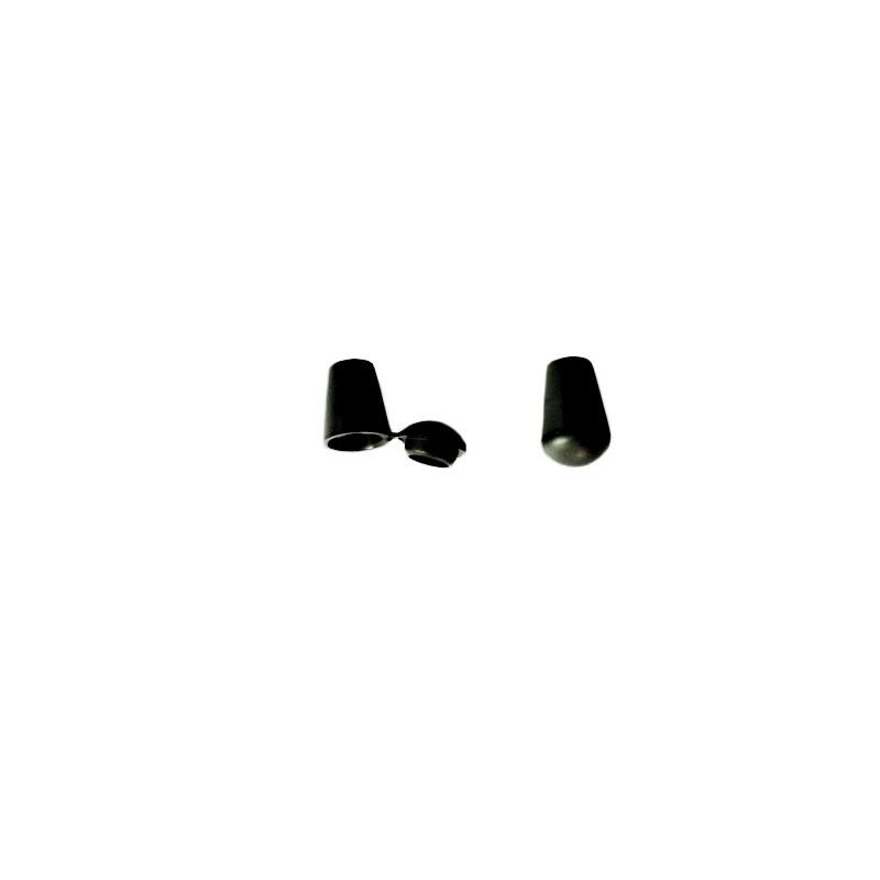 2 Arrêts de cordon / Cloche / Plastique / Noir