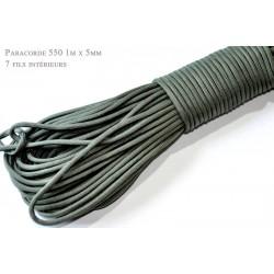 1m x 4mm Paracorde 550 / 30 uni / gris fonce