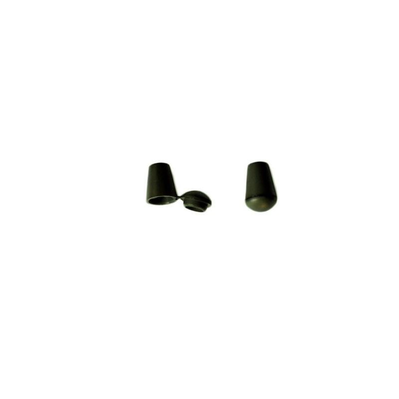 2 Arrêts de cordon / Cloche / Plastique / Kaki