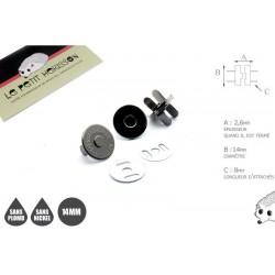 2 x 14mm Fermoirs Magnétiques / Qualité Supérieure / Gunmetal