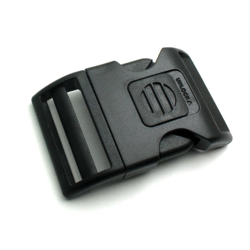 1 x 40mm Boucle Attache Rapide   Fermoir Clip   Plastique   Sécurité    Noir  ... 47f4a8c32ad