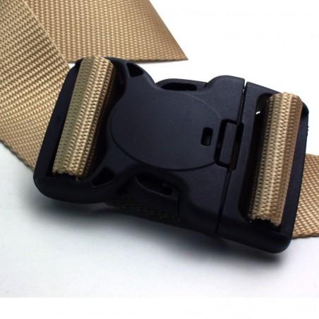 1 x 50mm Boucle Attache Rapide / Fermoir Clip / Plastique / Sécurité / Noir/ Tactique