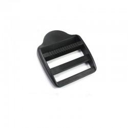 1 x 40mm Boucle de Règlage / Boucle de Serrage / Plastique / Noir