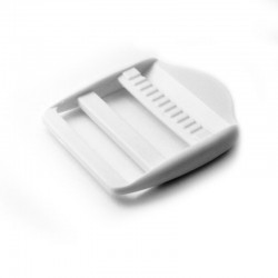 1 x 40mm Boucle de Règlage / Boucle de Serrage / Plastique / Blanc