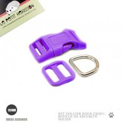 Kit Collier Pour Chien: 19mm / haute qualité / violet