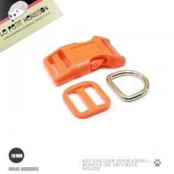 Kit Collier Pour Chien: 19mm / haute qualité / orange