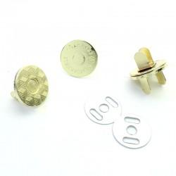 2 x 18mm Fermoirs Magnétiques / Qualité Supérieure / Dore Jaune