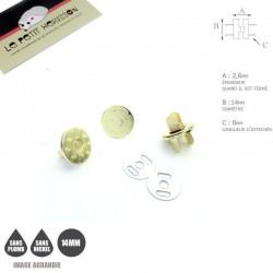 2 x 14mm Fermoirs Magnétiques / Qualité Supérieure / Dore Jaune