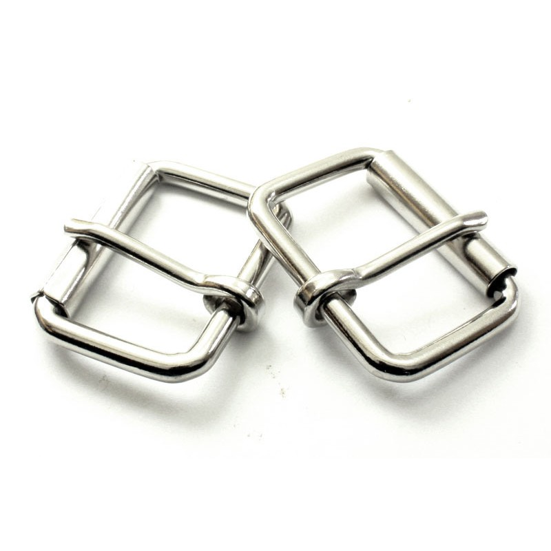 2 x 40mm Boucles à rouleau   Métal   Nickel 9ea52580ae0