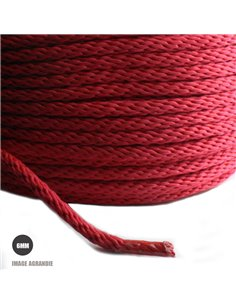 1m x 6mm Cordon Tresse / Polypropylène / 18 Fils / Fabriqué dans l'ue / Rouge