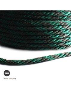 1m x 6mm Cordon Tresse / Polypropylène / 18 Fils / Fabriqué dans l'ue / Vert Olive et Vert Fonce