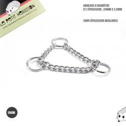 20cm chaîne Martingale / Metal /  Anneaux / chrome