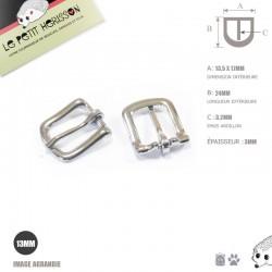 2 x 13mm Boucles de Bride / Métal / Nickel