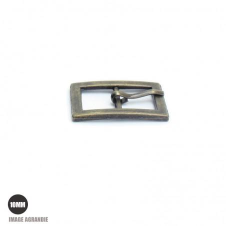 2 x 10mm Boucles de ceintures / Métal / Bronze Antique / Rectangulaire