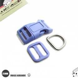 Kit Collier Pour Chien: 25mm / haute qualité / bleu (bleu ciel)