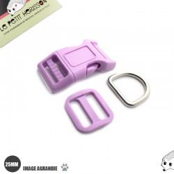 Kit Collier Pour Chien: 25mm / haute qualité / violet clair