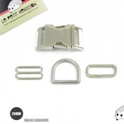 Kit Collier Pour Chien: 20mm / Metal / haute qualité / Metal
