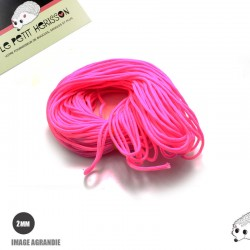 1m x 2mm Paracorde / UNI / rose flou