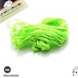 1m x 2mm Paracorde / UNI / vert flou