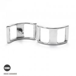 2 x 13mm Boucles Bateau / Conway /Zinc / Chrome