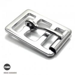 1 x 25mm Boucle de circonférence / Acier / Chrome