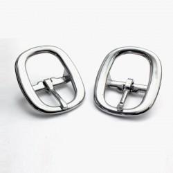 2 x 25mm Boucles de Licol / Boucles de Sellerie/ Métal / Chrome