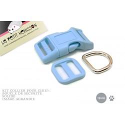 Kit Collier Pour Chien: 19mm / haute qualité / bleu clair