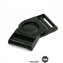 1 x 25mm Boucle Banane / Pivot / Plastique /  Noir