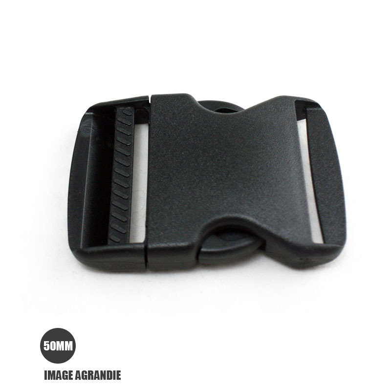 really comfortable closer at buying new 1 x 50mm Boucle Attache Rapide / Fermoir Clip / Plastique / Noir /  Legerment Courbe / Style 1
