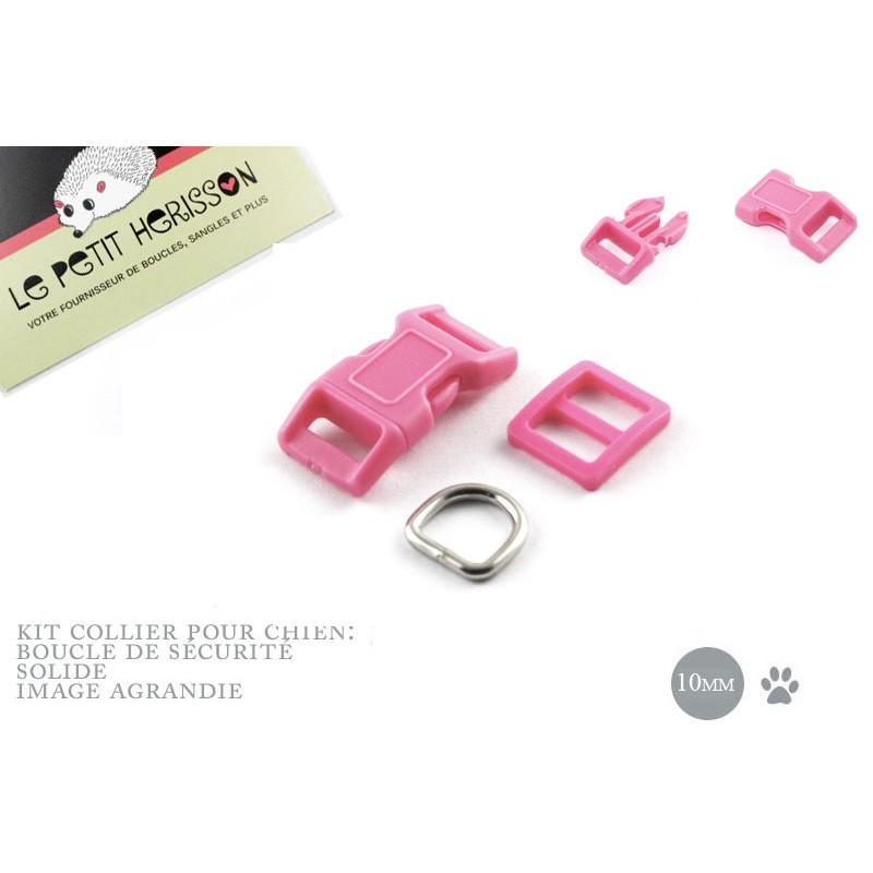 10mm Kit Collier Pour Chien / haute qualité / mauve