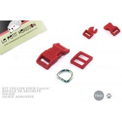 10mm Kit Collier Pour Chien / haute qualité / rouge