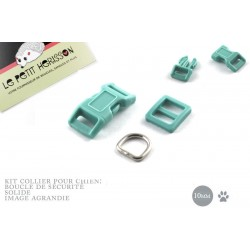 10mm Kit Collier Pour Chien / haute qualité / bleu oeuf