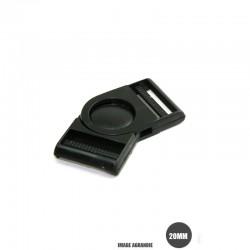 1 x 20mm Boucle Banane / Pivot / Plastique /  Noir