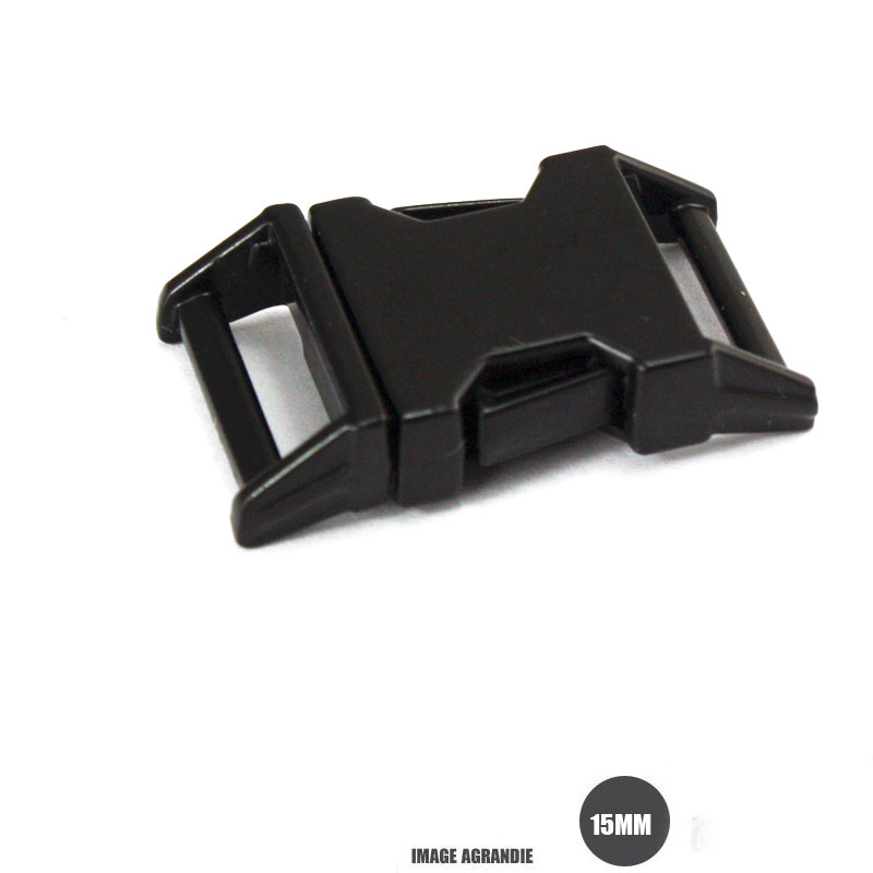 1 x 15mm Boucle Attache Rapide   Fermoir Clip   Metal   Noir Matt 427ccf5767f