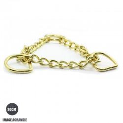 30cm chaîne martingale / metal / demis et anneaux / laiton massif