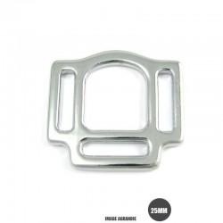 1 x 25mm Boucle carré de licol / Harnais / Métal / Plaque Chrome