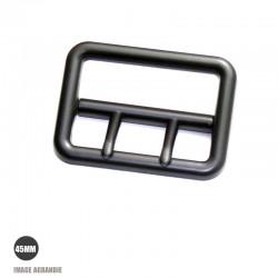 1 x 45mm Boucle de ceinture / Dual Ardillon / Zinc / Noir Matt