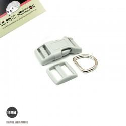 Kit Collier Pour Chien: 16mm / haute qualité / gris clair